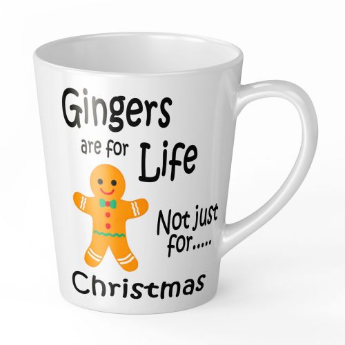 12oz Gingers Are For Life Not Just For Christmas Funny Latte Mug